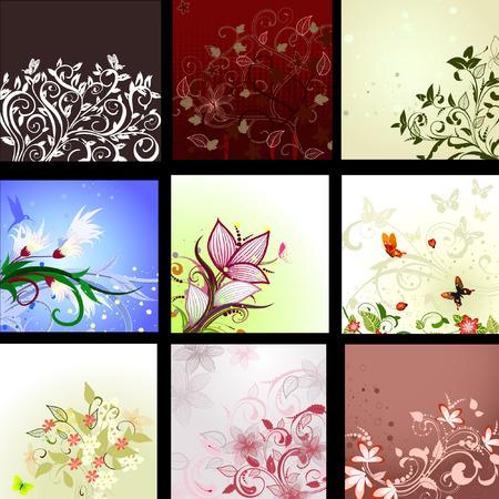 background patterned set Vector