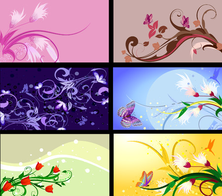 set of floral patterns backgrounds Stock Vector - 7745198