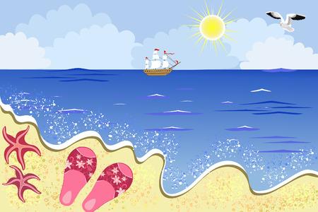 sea beach Stock Vector - 7745259