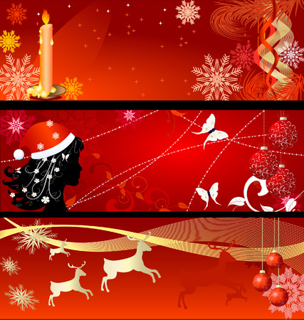 set of New Years backgrounds Vector