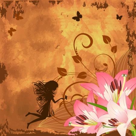 Flower fantasy fairy Stock Vector - 7896810