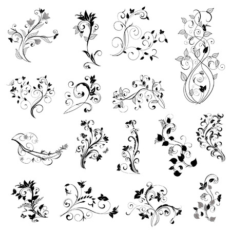butterfly tattoo: pattern set