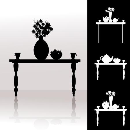 Tea table Vector