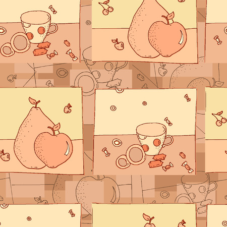 Confectionery seamless background Vector