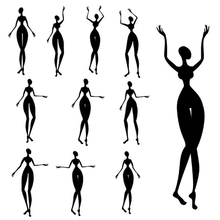 nude woman: Silhouettes of African women