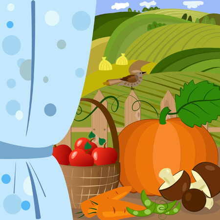 harvest time: harvest time Illustration