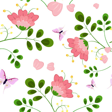 romantic floral background seamless Stock Vector - 8076359