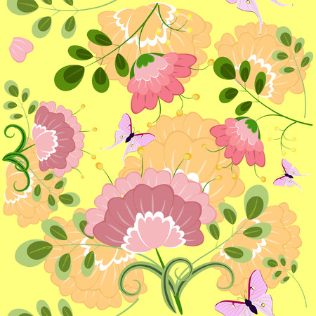 romantic floral background seamless Stock Vector - 8076363