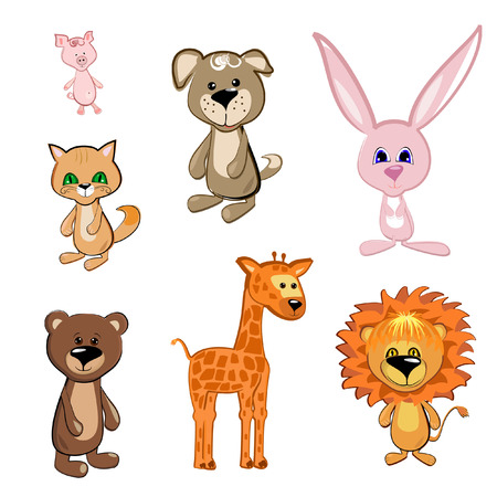 Toy Animals Stock Vector - 8076370