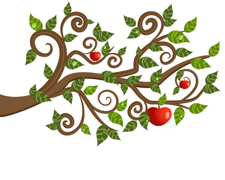 tree branch from an apple Stock Vector - 8132912