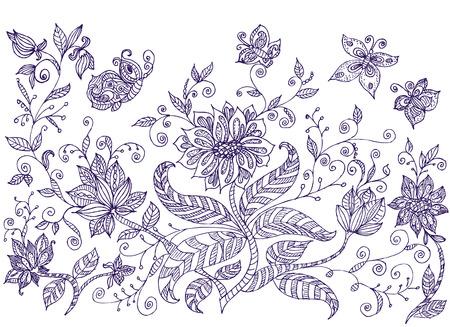 Lawn ornamental flowers Stock Vector - 8163049