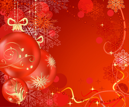 Christmas background with balls Vector