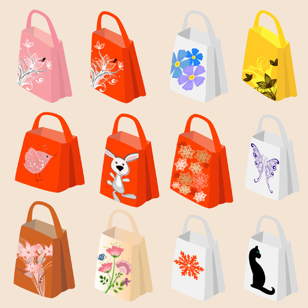 Packages Holiday Shopping Vector
