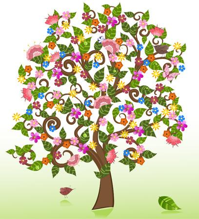 zomer abstracte bloemen boom