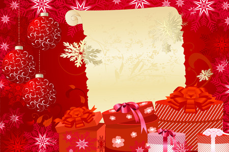 Christmas background with gifts Stock Vector - 8446127