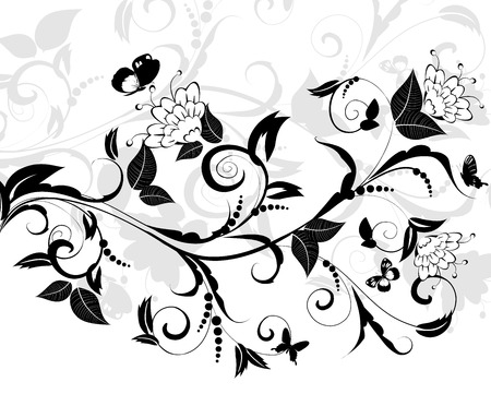 flowering pattern of a butterfly Stock Vector - 8495260