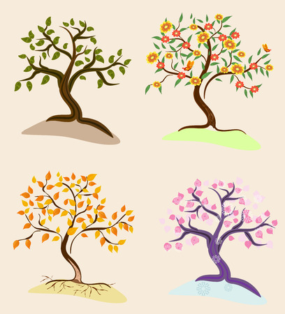 trees seasons Stock Vector - 8495265