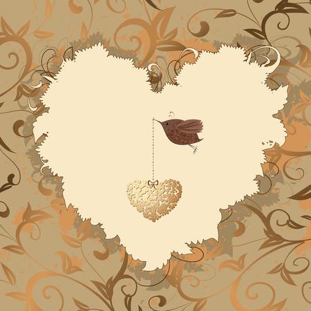 bird heart of gold Vector