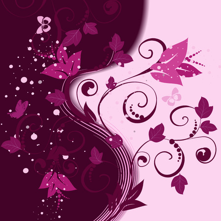 floral pattern abstract background Stock Vector - 8663788