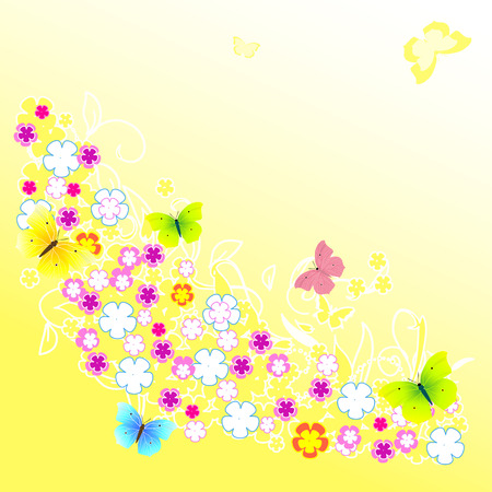 abstract background of yellow flower Vector