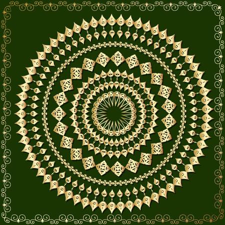oriental arabesque pattern gold Vector