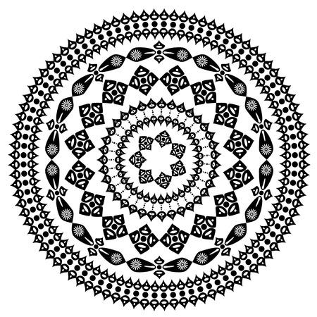 arabesque: arabesque Oriental modello rotondo Vettoriali