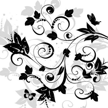 floral abstract design Stock Vector - 8663785