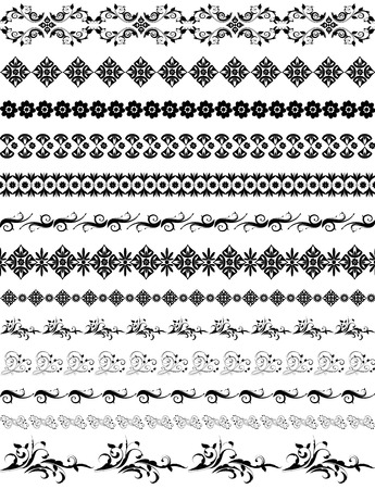fretwork: border oriental arabesque pattern