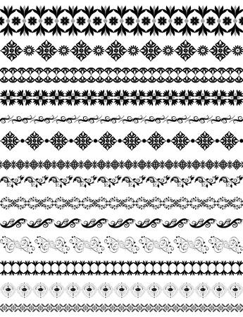 border oriental arabesque pattern Vector