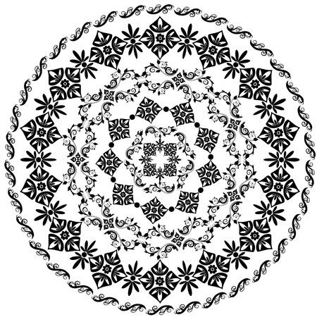abstract circular pattern of arabesques Stock Vector - 8663797