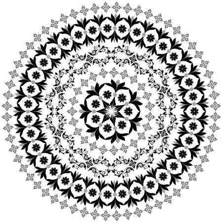 arabesque antique: abstract circular pattern of arabesques Illustration