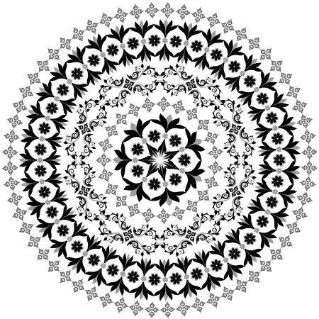 arabesque: patr�n circular abstracta de arabescos Vectores