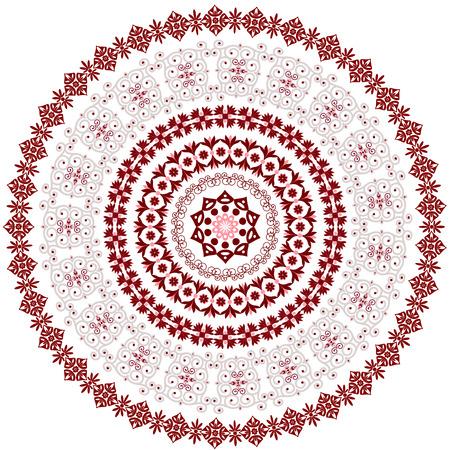 motif circulaire abstraite des arabesques