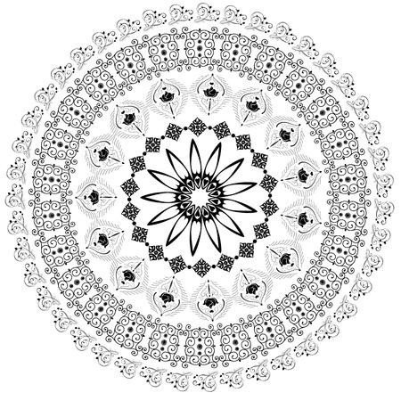 abstract circular pattern of arabesques Vector