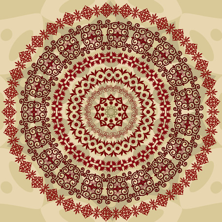 abstract circular pattern of arabesques Vector