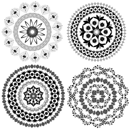 persian culture: set of arabesque pattern