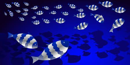 Shoal of fish in the ocean Vector