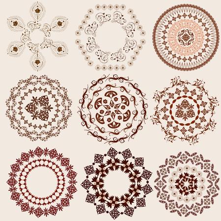 patron islamico: conjunto de patr�n de arabescos Vectores