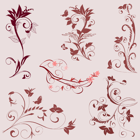 set of ornaments Stock Vector - 8884072