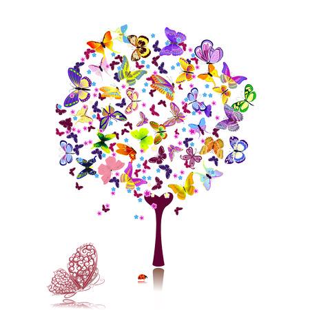 creative beauty: tree of butterflies
