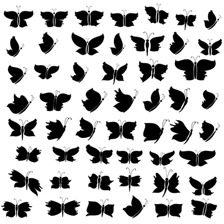 butterfly silhouette Stock Vector - 8884091