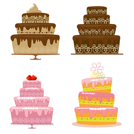 pink cake: cake Illustration