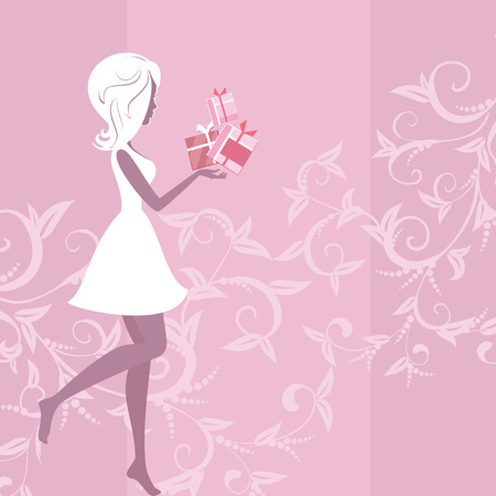 paper dresses: girl silhouette pattern and gifts