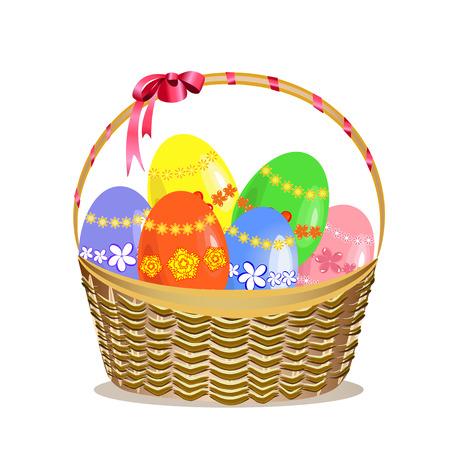 pasqua cristiana: Cesto di Pasqua Vettoriali