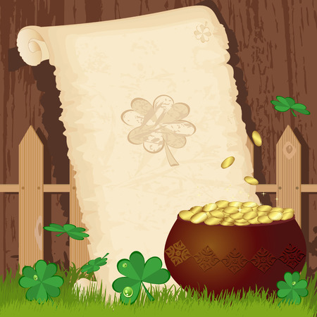 Greeting paper on St. Patricks Day Vector