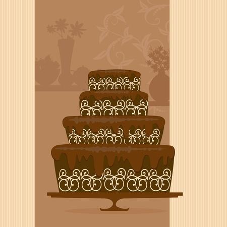 postre: pastel de chocolate en una tienda de golosinas