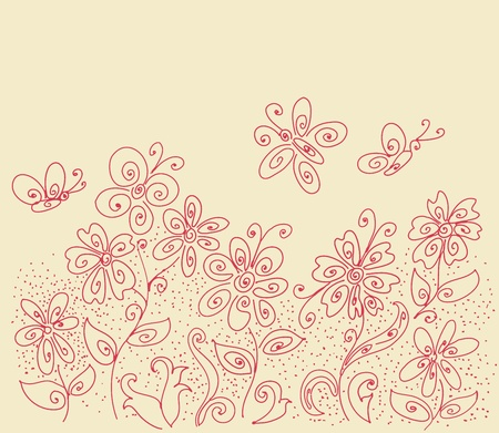 clearing: Flower clearing pattern Illustration