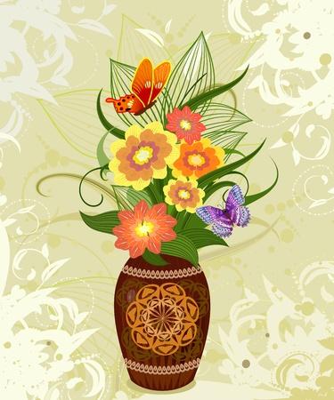 flor decorativa en un jarrón