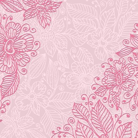 Frame flower ink Stock Vector - 9180790