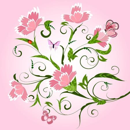 clous de girofle: Motif floral avec des clous de girofle Illustration